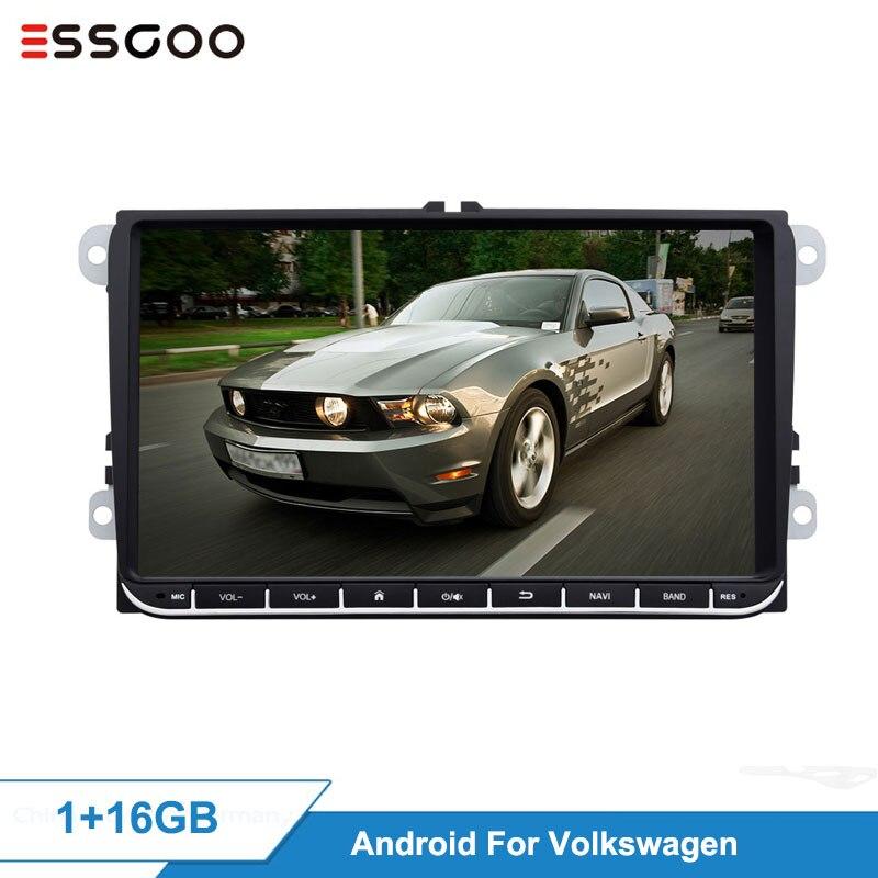 Essgoo android 9 2 2 2 + 32 gb 1 + 16 gb carro multimídia jogador gps navegação autoradio 2din vídeo mp5 rádio do carro para volkswagen para vw