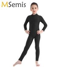 Kids Girls Gymnastics Leotard Ballet Dress Long Sleeves Zippered Ballet Dance Costume Kids Jumpsuit Unitard ballerina dress kids