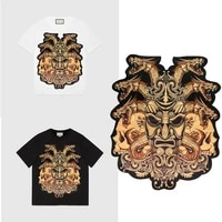 new large skull faucet patches applique brand fashion show back patches jacket