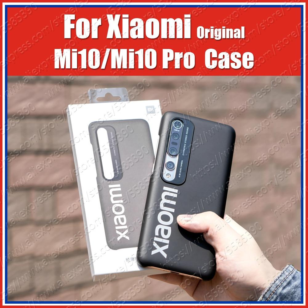 Tapa cerrada Mi10 Pro Original oficial Xiaomi Mi 10 Pro funda Mi10 PC cubierta trasera delgada