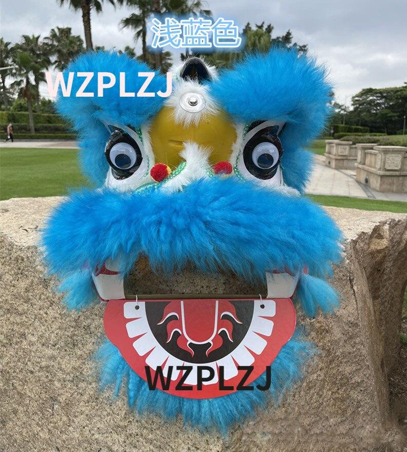 WZPLZJ Blue Lion Dance Costume Suit Set for 5-12 Age Kid Children Sport Entertainment Toy Party Game Cartoon Stage Props Parade