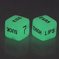 Nightlight Engraving Fun Dice Couple Dice Creative Game Color Sieve Set 1.6Cm Adult Toys Couple Lovers Games Party Toy