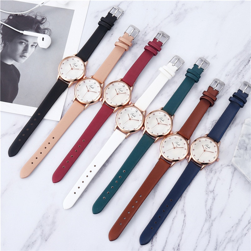 YUNAO 2021 Hot-selling Hot-Selling Ladies Watch Quartz Watch Student Casual Creative New Heart-Shaped Dial Belt Gift Watch enlarge
