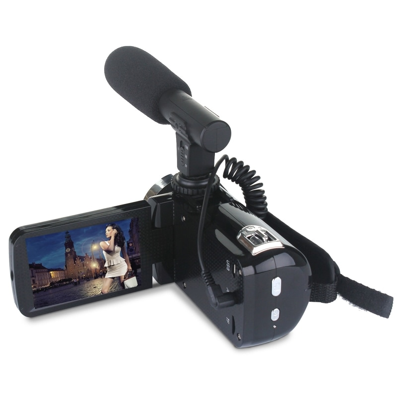 Professional 24MP Camcorder Digital Video Camera Night Vision 3 Inch LCD Touch Screen 18x Digital Zoom Camera Recorder with Micr enlarge