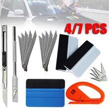 Película de tinte de vinilo para coche, Kit de herramientas de instalación de cortador de escurridor de fieltro, pegatina automática, raspador, Snitty, 1/4/7 Uds.