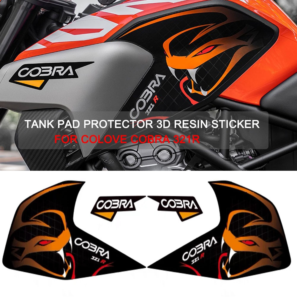 خزان وقود دراجة نارية غطاء ملصق الوسادة مكافحة زلة الجر مائي ل Colove كوبرا 321R
