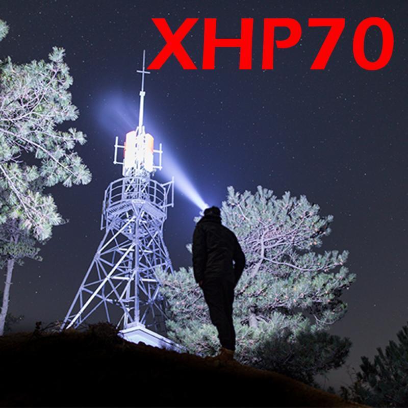 Super Bright XHP70 led Headlamp flashlight XHP50 head light XPL-V6 LED Headlamp Telescopic zoom USB Rechargeable 18650 headlight