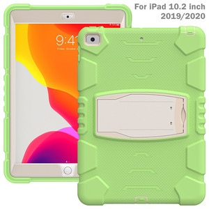 Case for iPad 8th/ iPad 7th Generation Slim Heavy Duty Shockproof Rugged Protective Case Built-in Stand for iPad 10.2 2020/2019