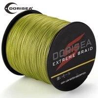 dorisea extreme braided 4 strands 300m 6lbs 100lbs pe multifilament fishing line wire pesca