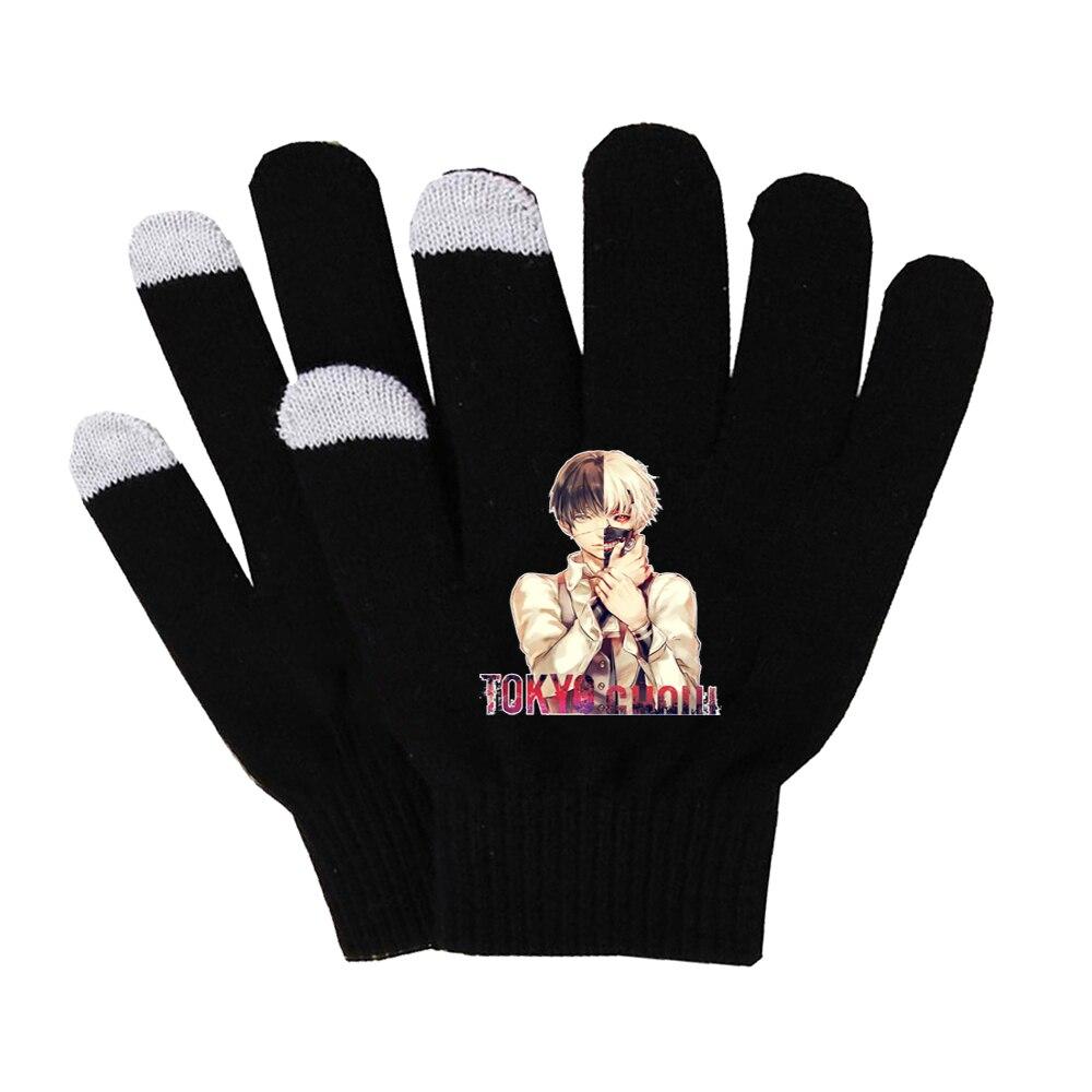 Аниме Токийский Гуль перчатки хлопковые теплые перчатки нескользящие перчатки для сенсорного экрана мужские варежки деловые перчатки жен...