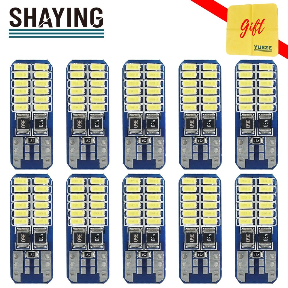 SHAYING Q6 serie 10 Uds T10 para tablero de lectura Interior, placa de Licnse lateral para maletero, luz de equipaje 6500K Canbus12V blanco