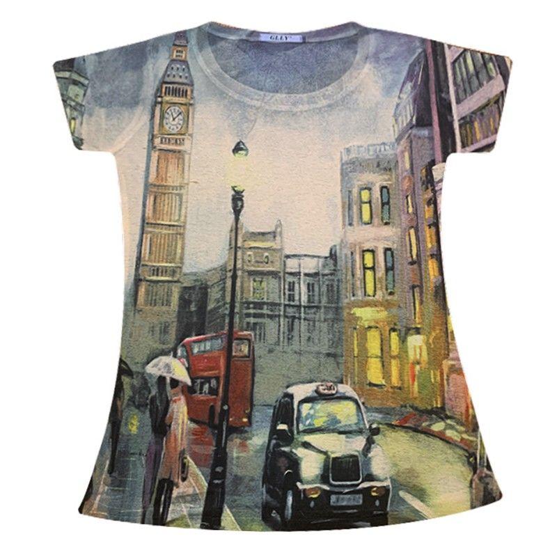 Европейская станция, Новинка лета 2020, Модная стильная футболка, Женская приталенная рубашка с коротким рукавом и принтом, приталенная куртк...