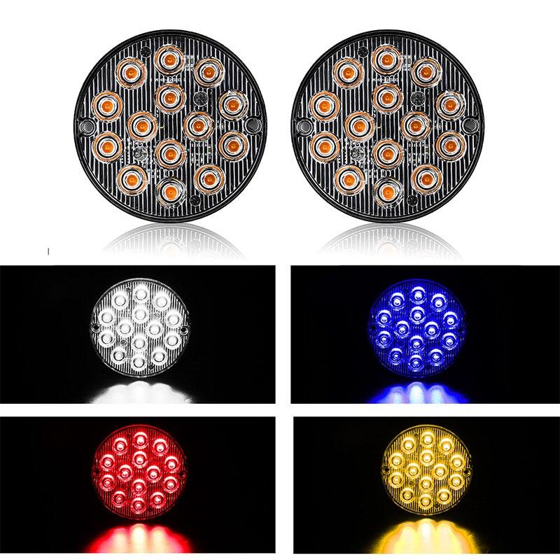 14 светодиодов, автомобильный стробоскоп, сигнальный проблесковый аварийсветильник свет, автомобильный грузовик, прицеп, предупреждающий с...