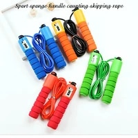 professional jump rope with electronic counter 2 9m adjustable fast speed counting skipping rope jumping wire workout equipments
