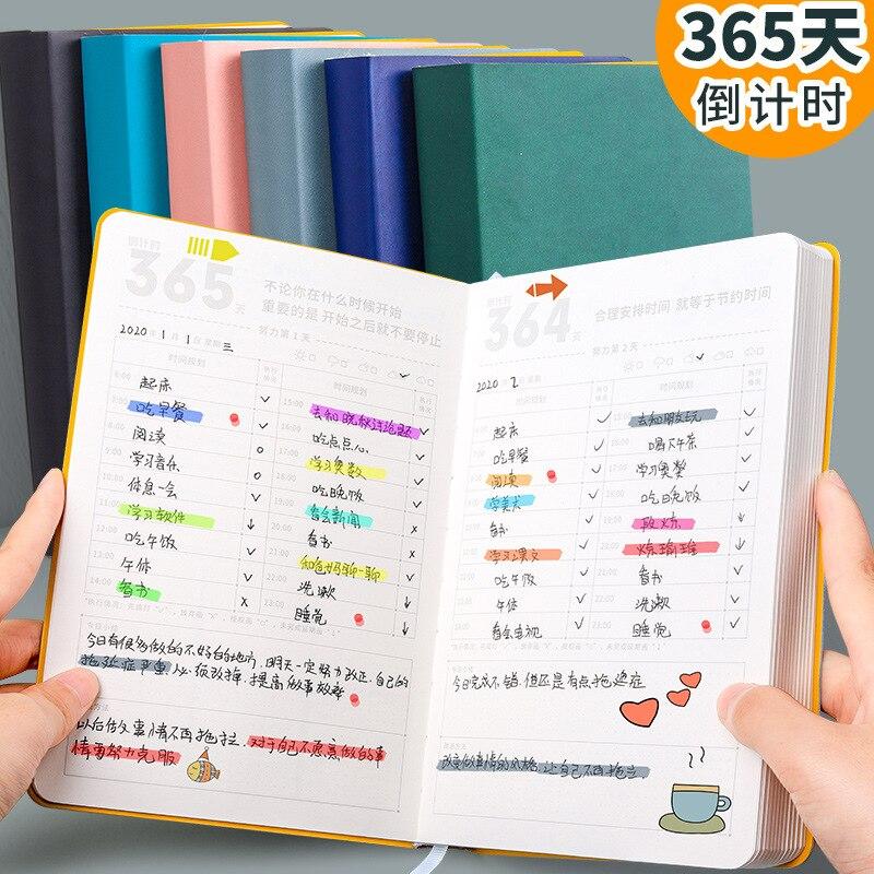Kabaxiong 365 Days, a Daily Planner, a Self-Discipline Work Assessment Planner Playing Card 2020 nian Calendar Notepad