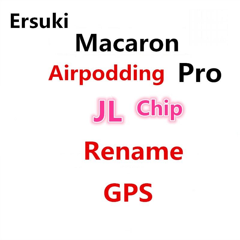 Wireless Headphones Macaron Airpodding Pro 3 TWS 1:1 Bluetooth Earphone Earbuds Rename GPS PK Pro2 i90000 i12 For iPhone Android