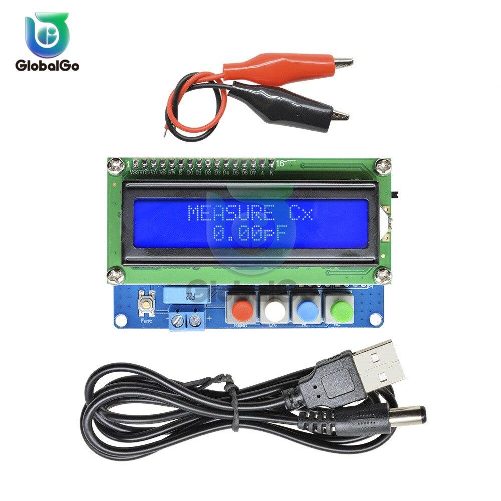 Tela LCD Backlight Digital Capacitor Capacitância Medidor LC100-A Indutância Testador Mini Usb Cabo Clipes Jacaré Crocodilo Fio