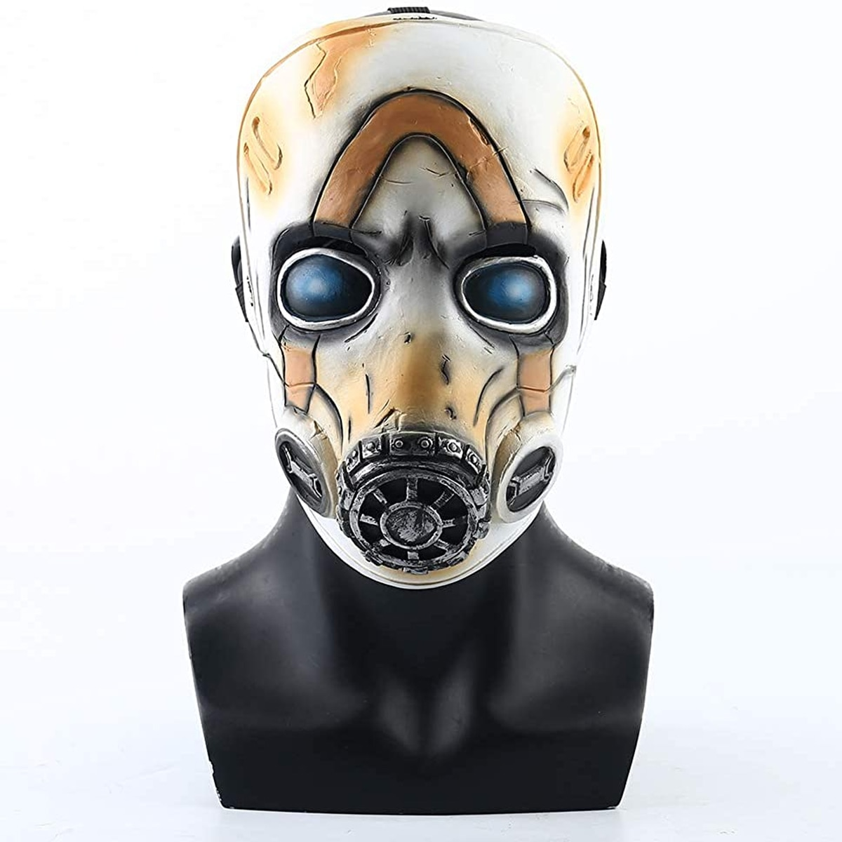 Juego Krieg Borderlands 3 Psycho LED Luz de látex, máscaras casco de cabeza completa Borderlands, disfraz de Cosplay, accesorios de fiesta de Halloween ATERRADOR