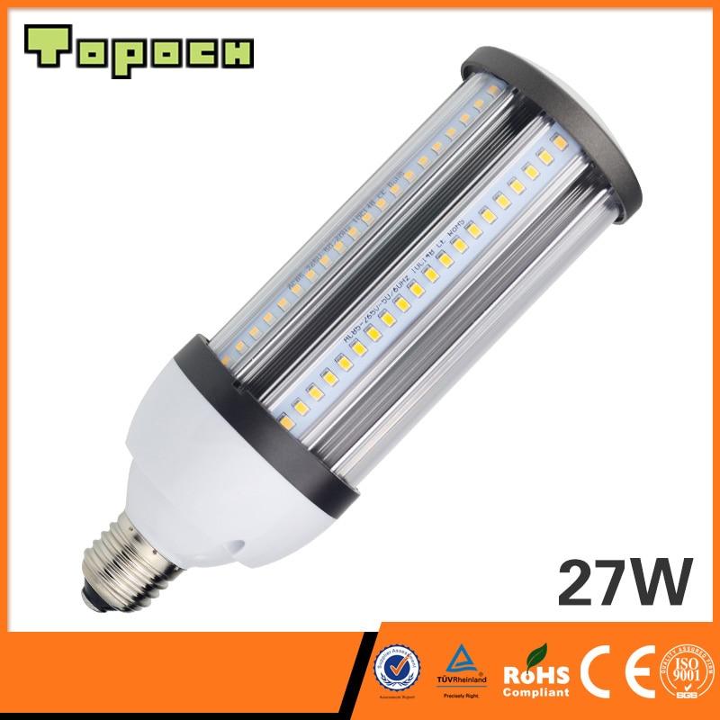 Topoch Waterproof LED Light Bulb 15W/21W/27W UL CE List 360Degree Beam Full Aluminium Heat Sink Halogen Metal Halide Replacement
