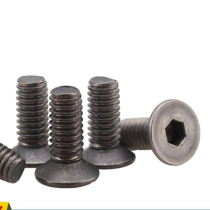 Tornillos de titanio avellanados GR2 M3/4/5/6x6-60mm con cabeza plana hexagonal de toma Allen para DIY 10 Uds