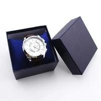 watch storage case faux leather watch box jewelry wrist watch holder women men watch display case sport watch organizer gift box