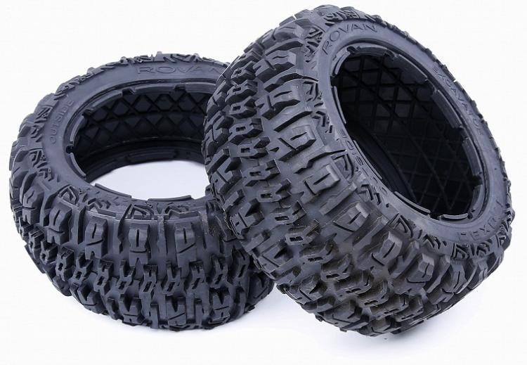 "Neumáticos de excavadora ""delantera/trasera"" para HPI 1/5, KM Rofun Baja 5b ss ,5t 2,0 rc, piezas de coche 2 unids/set"