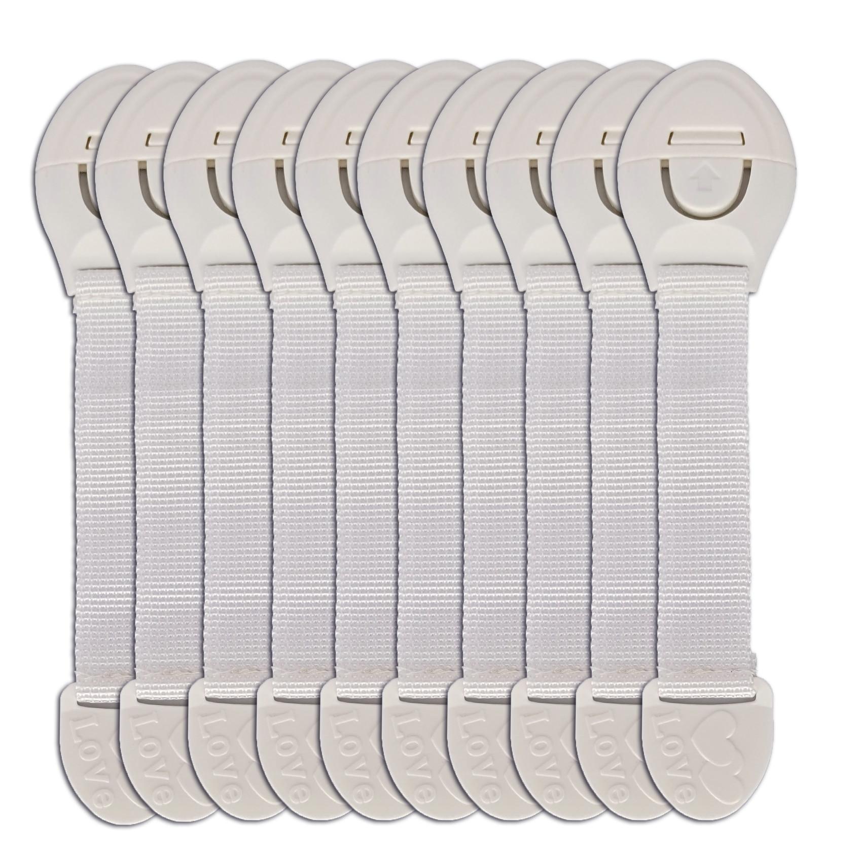 10 шт., блокираторы дверей шкафов для детской безопасности
