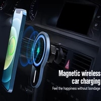 magnetic car wireless charger for iphone 12 pro max mini 15w fast charging car phone holder air outlet mount induction charger