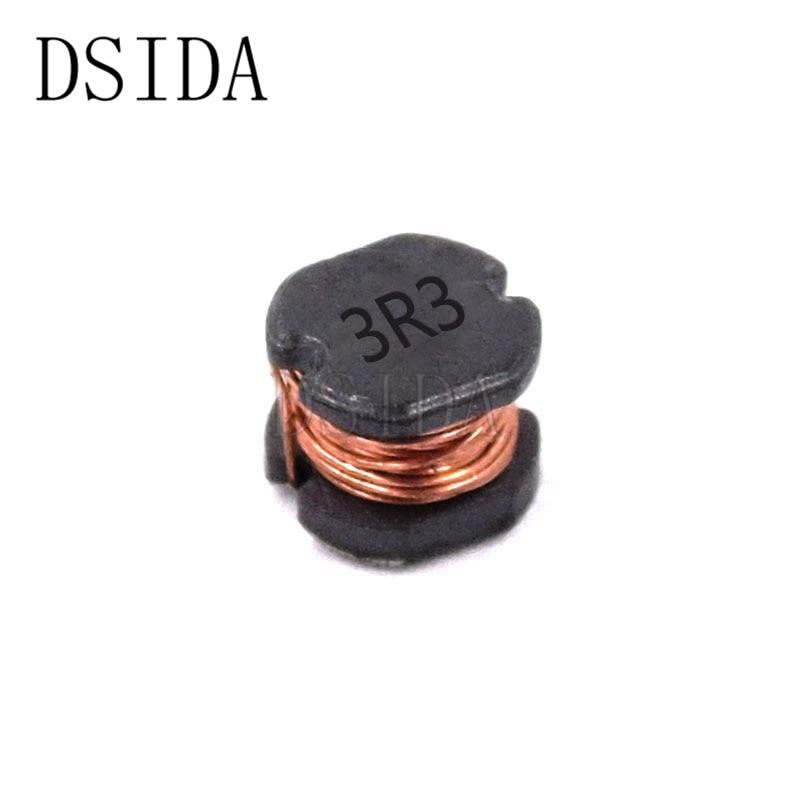 20 шт./лот 5,8*5*4,5 мм индуктор CD54 3.3UH 3R3 мощность индуктивность SMD новый и высокое качество