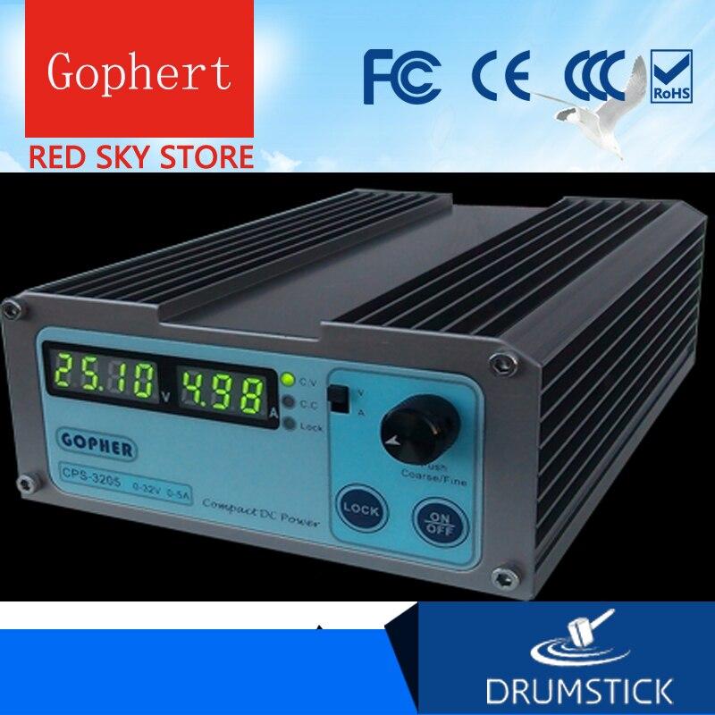 (Navio da rússia) gophert CPS-3205II dc fonte de alimentação de comutação única saída 0-32 v 0-5a 160 w ajustável
