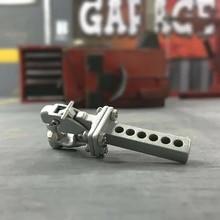 Traxxas rc crawler Metal Hitch Trailer Hook For 1:10 Scx10 90046 90047 Traxxas Trx4 Rc Crawler Car(Silver)