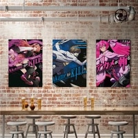 WTQ     affiches de dessin anime Vintage  peinture sur toile Akame Ga Kill  decor mural  tableau dart mural pour decoration de salon  decoration de maison