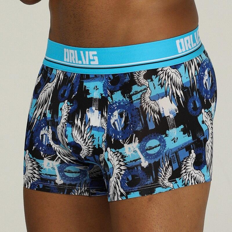 ORLVS Marke männliche unterwäsche männer boxer männlichen hosen cueca tanga trocknen schnell ropa interior hombre männer boxer shorts masculina atmungsaktiv