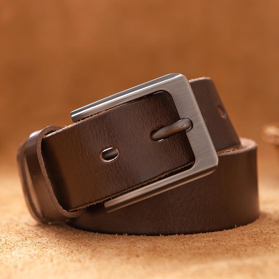 Top Leather Cowhide Belt Fashion Genuine leather Men Alloy Buckle Strap For Male Wide Cinto Masculino Luxury Cummerbund