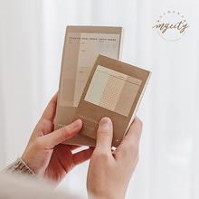 JIANWU 1pc Retro planer Kugel journal memo pad Nachricht karte DIY hinweis pad Hinweis Papier Schule liefert