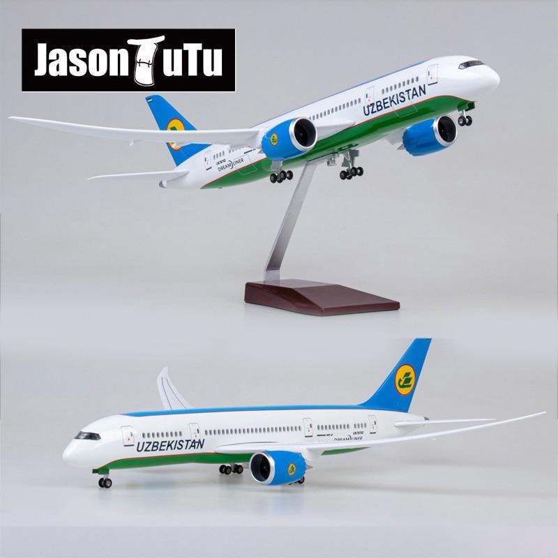 نموذج طائرة جيسون توتو 43 سنتيمتر ، خطوط طيران أوزبكستان ، نموذج طائرة ، طراز طائرة 1/130 ، طائرات راتينج دييكاست بمقياس