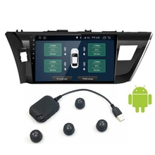 USB Android TPMS Car Tire Pressure Monitoring System Display 4 Internal external Sensors Navigation