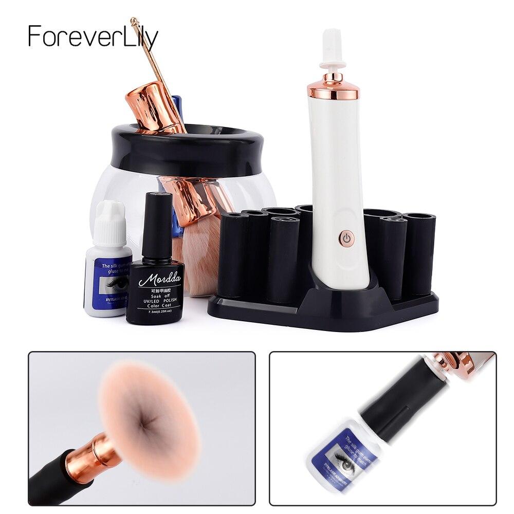 Electric Nail Polish Makeup Brush Shaker eyelash glue Tattoo Ink Pigment Liquid Shaking Machine Brush Washing Cleaning Bottle