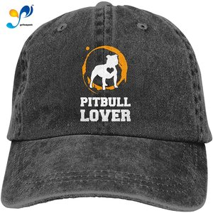 Pitbull Dog Lover Unisex Soft Casquette Cap Fashion Hat Vintage Adjustable Baseball Caps