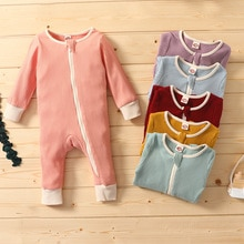 0-24M Baby Jumpsuits Clothing Zipper Romper Long Sleeve Jumpsuits  baby girl fall clothes  one piece