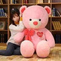 hot high quality 80cm100cm 4 colors teddy bear with scarf stuffed animals plush toys teddy bear doll lovers birthday baby gift