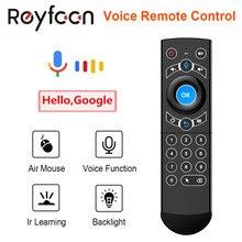 G21 Pro voix télécommande 2.4G sans fil clavier Air souris avec IR apprentissage Gyroscope pour Android TV Box H96 MAX X3 Pro X88