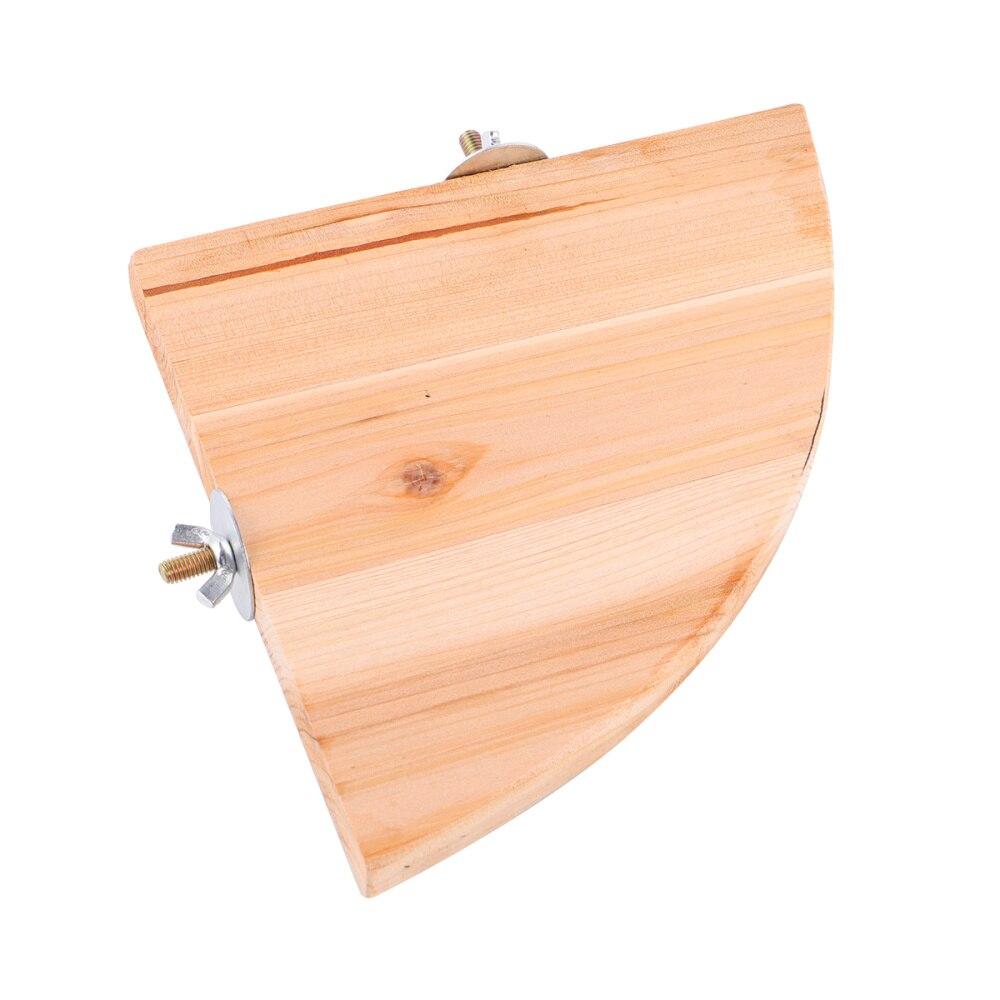 Forme de ventilateur givré en bois tremplin bricolage Cage pour animaux de compagnie pédale perroquet Hamster écureuil petite plate-forme pour animaux de compagnie décoration fournitures