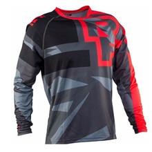 Enduro rojo amarillo RF jersey para descensos de Ciclismo de manga larga motocross hombres ropa bicicleta camiseta mx mtb FXR DH MTB cuesta abajo