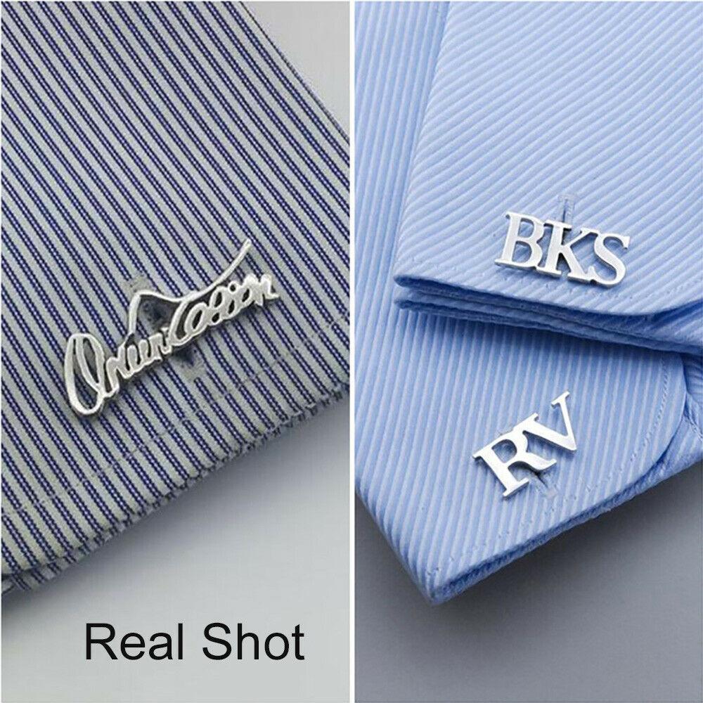 Запонки Sherman с именным логотипом на заказ, модные мужские запонки для рубашки, пуговицы, свадебные украшения, подарки