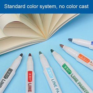 12 Colors School Drawing Greeting Outline Gift Cards On Paper Home DIY Double Line Marker Paint Permanent Pen For Writing