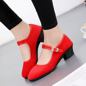 Women's 5cm High Heels Pumps Office Lady Women Shoes Sexy Bride Party Thick Heel Round Toe  High Heel Shoes jkl9