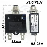 3pcs taiwan kuoyuh 98 series 25a overcurrent protector overload switch
