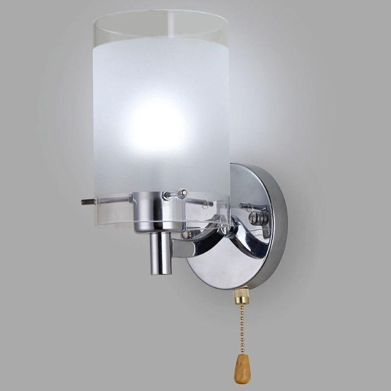 Ac 85-265v e27 conduziu a luz de parede de vidro moderno iluminação decorativa arandela luminária de parede (sem lâmpada)