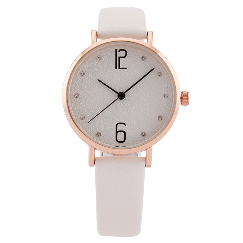 MREURIO Women Watch Classic Numerals Diamond-Studded Simple Dial Ultra Thin Quartz Watch for Women Fashion Dress Wrist Watch enlarge